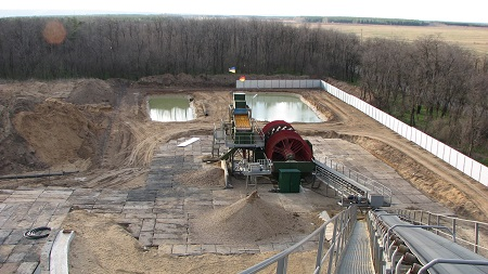 Complex for construction sand processing of Oleksandrivka deposit